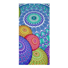 India Ornaments Mandala Balls Multicolored Shower Curtain 36  X 72  (stall)  by EDDArt