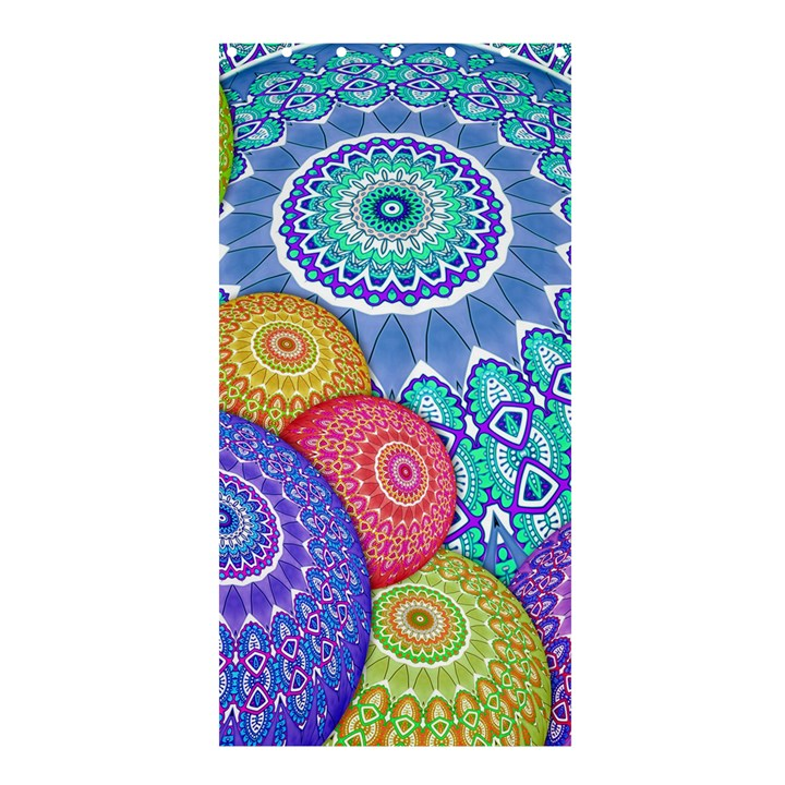 India Ornaments Mandala Balls Multicolored Shower Curtain 36  x 72  (Stall)