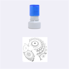 India Ornaments Mandala Balls Multicolored Rubber Round Stamps (small)