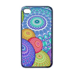 India Ornaments Mandala Balls Multicolored Apple Iphone 4 Case (black) by EDDArt