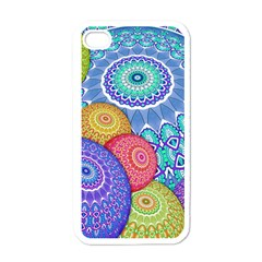 India Ornaments Mandala Balls Multicolored Apple Iphone 4 Case (white) by EDDArt