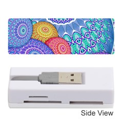 India Ornaments Mandala Balls Multicolored Memory Card Reader (stick)  by EDDArt