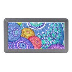 India Ornaments Mandala Balls Multicolored Memory Card Reader (mini) by EDDArt