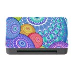 India Ornaments Mandala Balls Multicolored Memory Card Reader with CF Front
