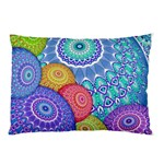 India Ornaments Mandala Balls Multicolored Pillow Case (Two Sides) Back