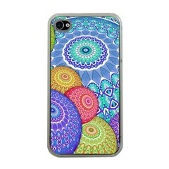India Ornaments Mandala Balls Multicolored Apple Iphone 4 Case (clear) by EDDArt