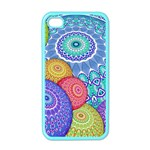 India Ornaments Mandala Balls Multicolored Apple iPhone 4 Case (Color) Front