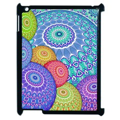 India Ornaments Mandala Balls Multicolored Apple Ipad 2 Case (black) by EDDArt