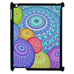 India Ornaments Mandala Balls Multicolored Apple iPad 2 Case (Black)