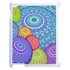 India Ornaments Mandala Balls Multicolored Apple Ipad 2 Case (white)