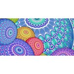 India Ornaments Mandala Balls Multicolored Happy Birthday 3D Greeting Card (8x4) Front