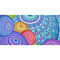 India Ornaments Mandala Balls Multicolored You Are Invited 3d Greeting Card (8x4)