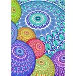 India Ornaments Mandala Balls Multicolored LOVE Bottom 3D Greeting Card (7x5) Inside