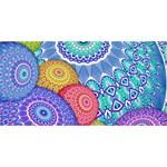 India Ornaments Mandala Balls Multicolored HUGS 3D Greeting Card (8x4) Front