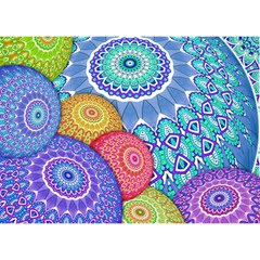 India Ornaments Mandala Balls Multicolored Birthday Cake 3d Greeting Card (7x5) by EDDArt
