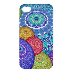 India Ornaments Mandala Balls Multicolored Apple Iphone 4/4s Hardshell Case by EDDArt