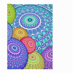 India Ornaments Mandala Balls Multicolored Small Garden Flag (two Sides) by EDDArt