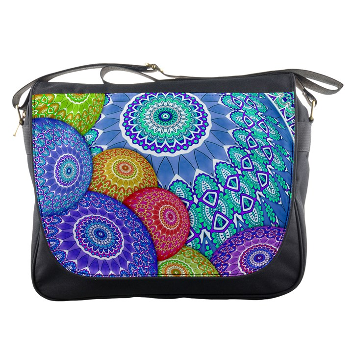 India Ornaments Mandala Balls Multicolored Messenger Bags