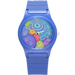 India Ornaments Mandala Balls Multicolored Round Plastic Sport Watch (s) by EDDArt