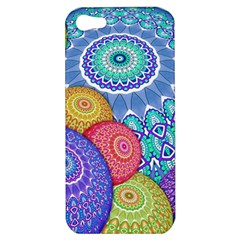 India Ornaments Mandala Balls Multicolored Apple Iphone 5 Hardshell Case by EDDArt