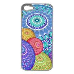 India Ornaments Mandala Balls Multicolored Apple Iphone 5 Case (silver)