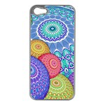 India Ornaments Mandala Balls Multicolored Apple iPhone 5 Case (Silver) Front