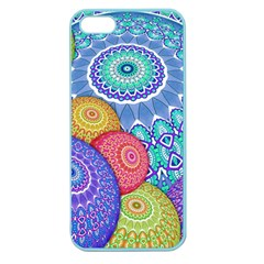 India Ornaments Mandala Balls Multicolored Apple Seamless Iphone 5 Case (color) by EDDArt