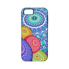 India Ornaments Mandala Balls Multicolored Apple Iphone 5 Classic Hardshell Case (pc+silicone)