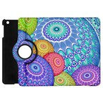India Ornaments Mandala Balls Multicolored Apple iPad Mini Flip 360 Case Front