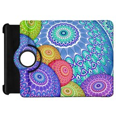 India Ornaments Mandala Balls Multicolored Kindle Fire Hd Flip 360 Case by EDDArt
