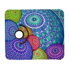 India Ornaments Mandala Balls Multicolored Samsung Galaxy S  Iii Flip 360 Case by EDDArt