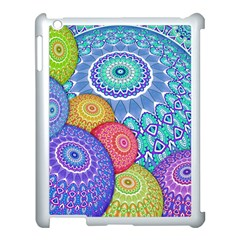 India Ornaments Mandala Balls Multicolored Apple Ipad 3/4 Case (white)