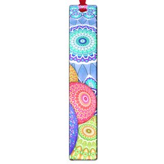 India Ornaments Mandala Balls Multicolored Large Book Marks by EDDArt