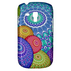India Ornaments Mandala Balls Multicolored Samsung Galaxy S3 Mini I8190 Hardshell Case by EDDArt