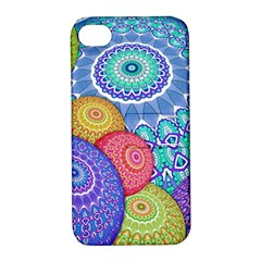 India Ornaments Mandala Balls Multicolored Apple Iphone 4/4s Hardshell Case With Stand