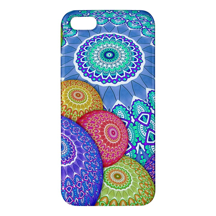 India Ornaments Mandala Balls Multicolored Apple iPhone 5 Premium Hardshell Case