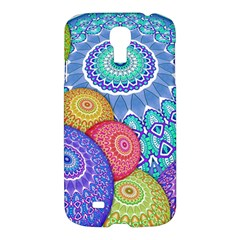 India Ornaments Mandala Balls Multicolored Samsung Galaxy S4 I9500/i9505 Hardshell Case by EDDArt