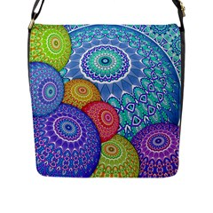 India Ornaments Mandala Balls Multicolored Flap Messenger Bag (l)  by EDDArt