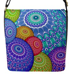 India Ornaments Mandala Balls Multicolored Flap Messenger Bag (s) by EDDArt