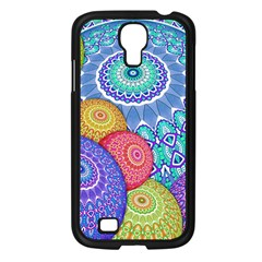 India Ornaments Mandala Balls Multicolored Samsung Galaxy S4 I9500/ I9505 Case (black) by EDDArt