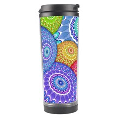 India Ornaments Mandala Balls Multicolored Travel Tumbler by EDDArt