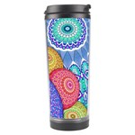 India Ornaments Mandala Balls Multicolored Travel Tumbler Center