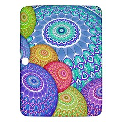 India Ornaments Mandala Balls Multicolored Samsung Galaxy Tab 3 (10 1 ) P5200 Hardshell Case  by EDDArt