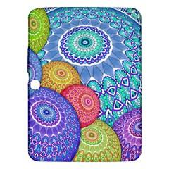 India Ornaments Mandala Balls Multicolored Samsung Galaxy Tab 3 (10.1 ) P5200 Hardshell Case