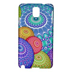 India Ornaments Mandala Balls Multicolored Samsung Galaxy Note 3 N9005 Hardshell Case by EDDArt