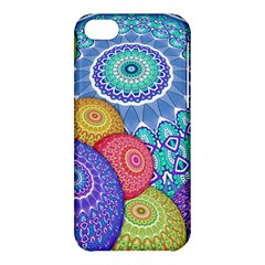 India Ornaments Mandala Balls Multicolored Apple Iphone 5c Hardshell Case by EDDArt