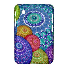 India Ornaments Mandala Balls Multicolored Samsung Galaxy Tab 2 (7 ) P3100 Hardshell Case  by EDDArt