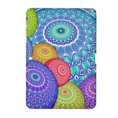 India Ornaments Mandala Balls Multicolored Samsung Galaxy Tab 2 (10 1 ) P5100 Hardshell Case  by EDDArt