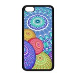 India Ornaments Mandala Balls Multicolored Apple iPhone 5C Seamless Case (Black) Front