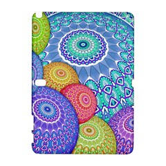 India Ornaments Mandala Balls Multicolored Samsung Galaxy Note 10 1 (p600) Hardshell Case by EDDArt